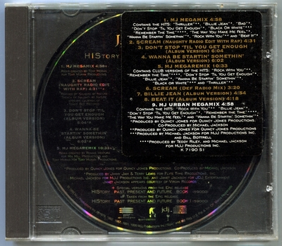 1995-MICHAEL JACKSON-HISTORY LIFE STYLE PROMO CD-9 TRACKS-USA PROMO CD-美国宣传版