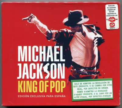 MICHAEL JACKSON-2009-KING OF POP-EDICION EXCLUSIVA PARA ESPANA-17曲精选CD-西班牙版
