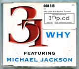 1996-MICHAEL JACKSON&3T-WHY-1 TRACK-UK PROMO CDSINGLE-英国宣传版