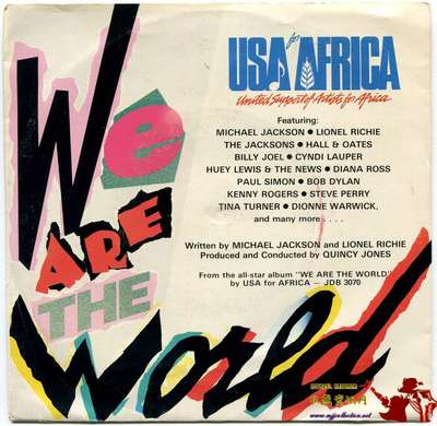 1985-MICHAEL JACKSON-WE ARE THE WORLD-希腊版7寸单曲唱片