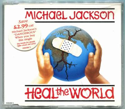 1992-MICHAEL JACKSON-HEAL THE WORLD-4 TRACKS-AUSTRIA PICTURE CDSINGLE-奥地利版