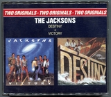 THE JACKSONS-1989-TWO ORIGINALS-DESTINY+VICTORY-法国版