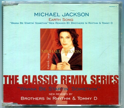1995-MICHAEL JACKSON-EARTH SONG-THE CLASSIC REMIX SERIES 2-4 TRACKS-UK CDSINGLE-英国版