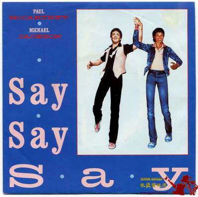 1983-MICHAEL JACKSON&PAUL MCCARTNEY-SAY SAY SAY-美国版7寸单曲唱片